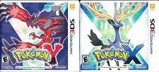 Pokemon X + Pokemon Y (Nintendo 3DS) BOTH Games!  Great Shape! Complete!