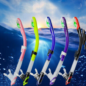 Adult Silicone Dry Snorkel Diving Breath Tube Snorkels Swimming Breathing Tube