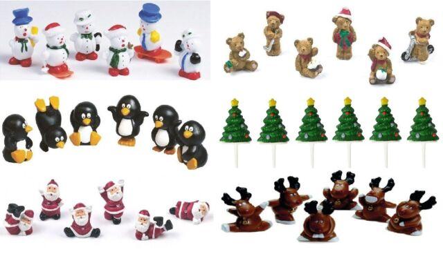 New Culpitt Christmas Cake Yule Log Decorations Toppers Motto Tree Santa