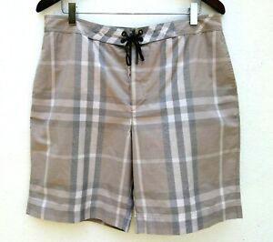 c3954c34fc BURBERRY LONDON Men's MUTED CHECK PLAID SWIM TRUNKS Board Shorts ...