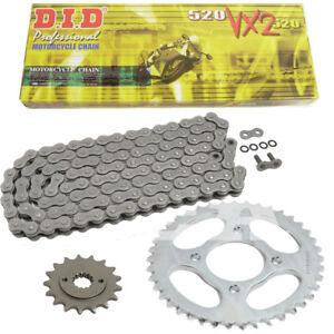 Kawasaki Z 750 ABS DID Kettensatz chain kit 520 VX2 G/&B gold 2007-2014