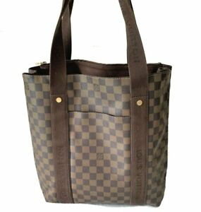 Louis-Vuitton-LV-Damier-Ebene-Canvas-Leather-Cabas-Beaubourg-Tote-bag