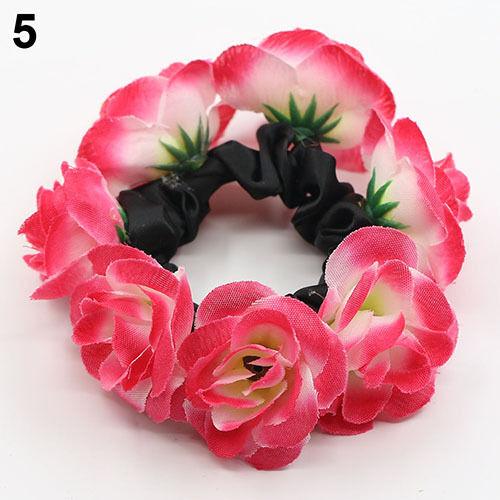 Eg /_Tasche/_ DAMEN Pleased Blumen Braten Haarband Girlande Braut Haargummi Band
