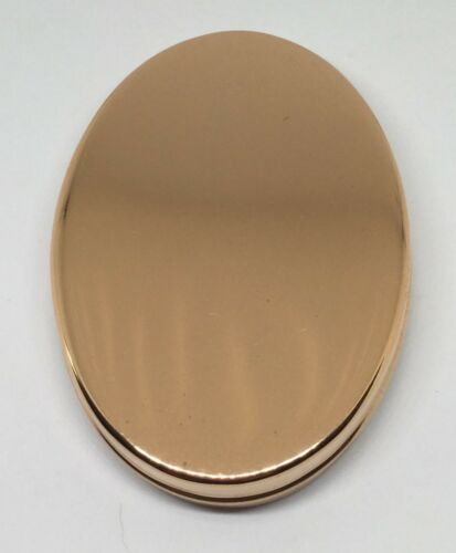 Oval Tinder Box Copper or German Silver in either Brass by Tedd Cash