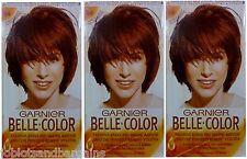 3 x Garnier Belle Color 54 Reddish Brown - Permanent Hair Colourant Dye