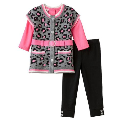 Bonnie Baby Youngland Sophie NWT Infant Toddler Jacket Sweater Set Little Lass