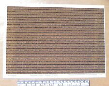 "O gauge (1:48 scale) ""Dark brown roof shingles""  vinyl-A4 sheet (297 x 210 mm)"