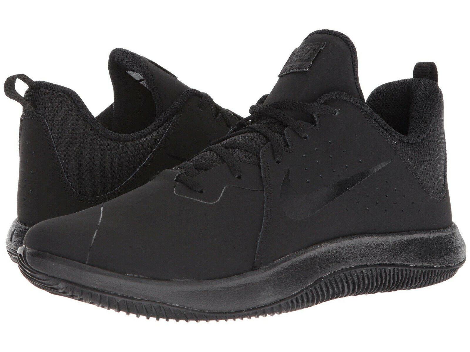 NIB Mens Nike Fly.By Low NBK Nubuck Triple Black Black Anthracite AO2254 001