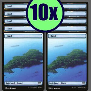 10x ISLAND 375 Double Masters Full Art Basic Land NM/LP MTG Magic the Gathering