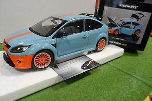 Ford Focus Rs 2010 Bleu Gulf Le Mans 1/18 Minichamps 100080068 Voiture Miniature