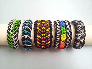 Image Is Loading Lot Of 5 Rainbow Loom Bracelets Galaxy Starburst