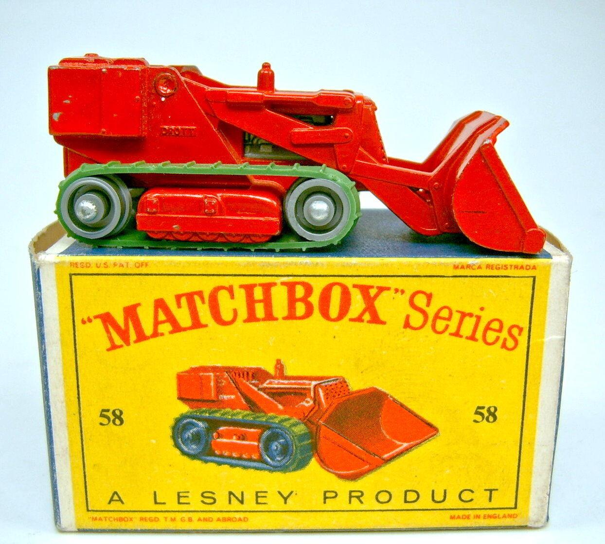 Matchbox RW 58b Drojot Excavator rojo rare plata roles en Box