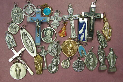 Nice collections of Catholic medals and Crucifixes