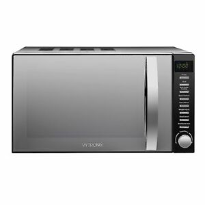 VYTRONIX Digital Microwave Oven 800W 20L 5 Power Levels Freestanding Black