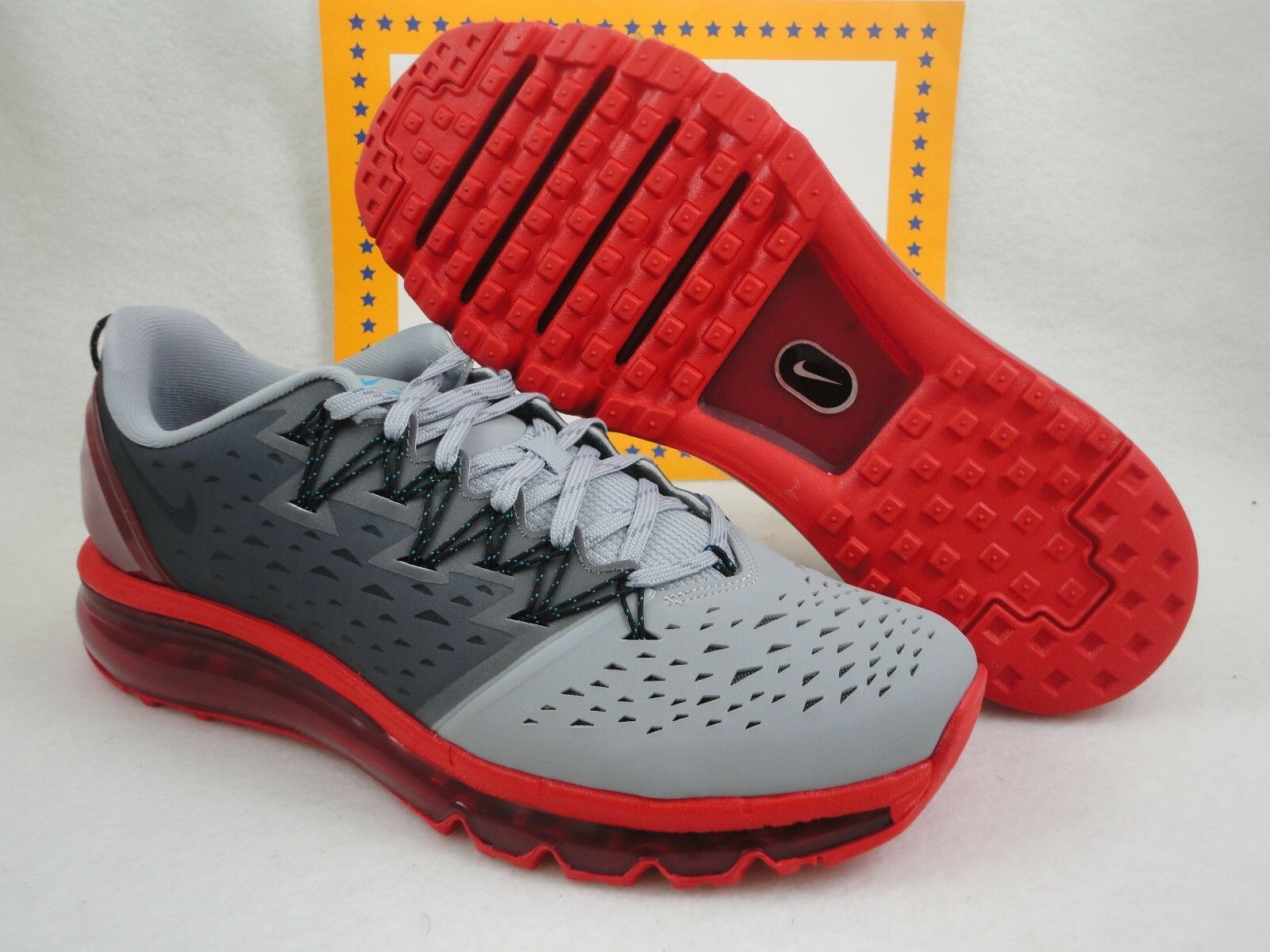 Nike air max pacfly, lupo grigio / università di di di rosso, misura 8,5 7319aa