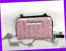 Victoria's Secret Glossy PINK Sequin Crossbody Bag iPhone 5 Case Wallet Purse