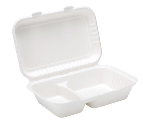 BIODEGRADABILI & compostabili bagassa 2 vano vano vano Cibo Box  Scegli Qty 52a0b7