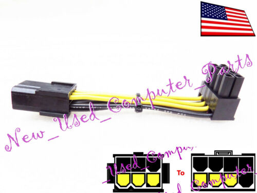 11mm 90 Degree Female 6-Pin to 8-Pin PCI-E Lay-Flat Power Cable ➨➨ ➨➨➨