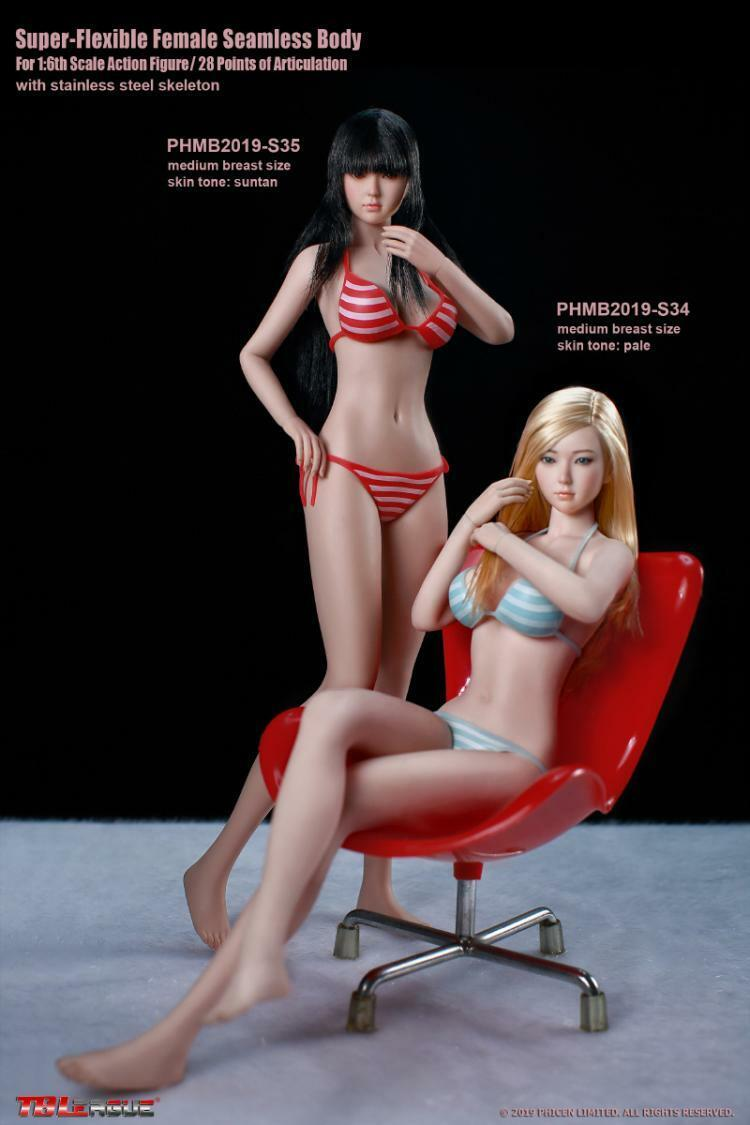 TBLeague 1 6 Girl Medium Breast Body Model PHMB2019-S34 S35 12  Female Figure