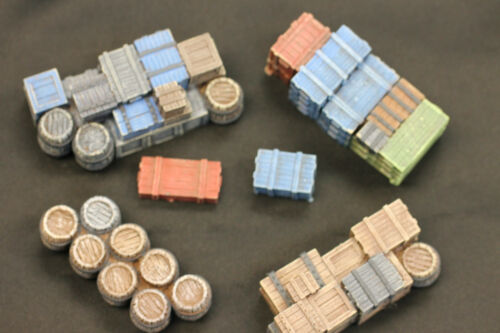 28mm crates and boxes for Bolt Action skirmish games 40K