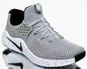 14f38fd0a8552 Nike Free Trainer V8 Men Matte Silver Black White Crossfit Training ...