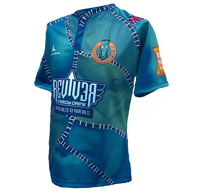 Olorun Bolt On Wanderers Home S//S Rugby Shirt S-7XL