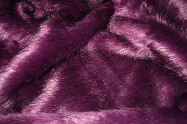 Super Luxury Faux Fur Fabric Material - LONG PURPLE VIOLET
