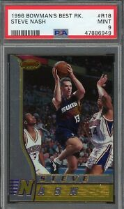 Steve Nash Phoenix Suns 1996 Bowmans Best Basketball Rookie Card RC #R18 PSA 9