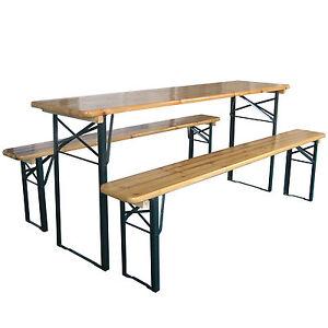 Outdoor Wooden Folding Beer Table Bench Garden Furniture