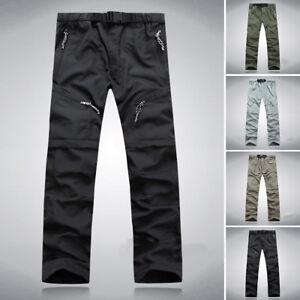 Homme-Zip-Off-Pantalon-Cargo-de-Loisir-Longs-Travail-M-3XL