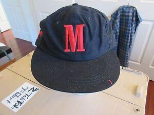 6cd84299f17 Image is loading Marlboro-Cigarettes-034-M-034-Black-Snapback-Hat-