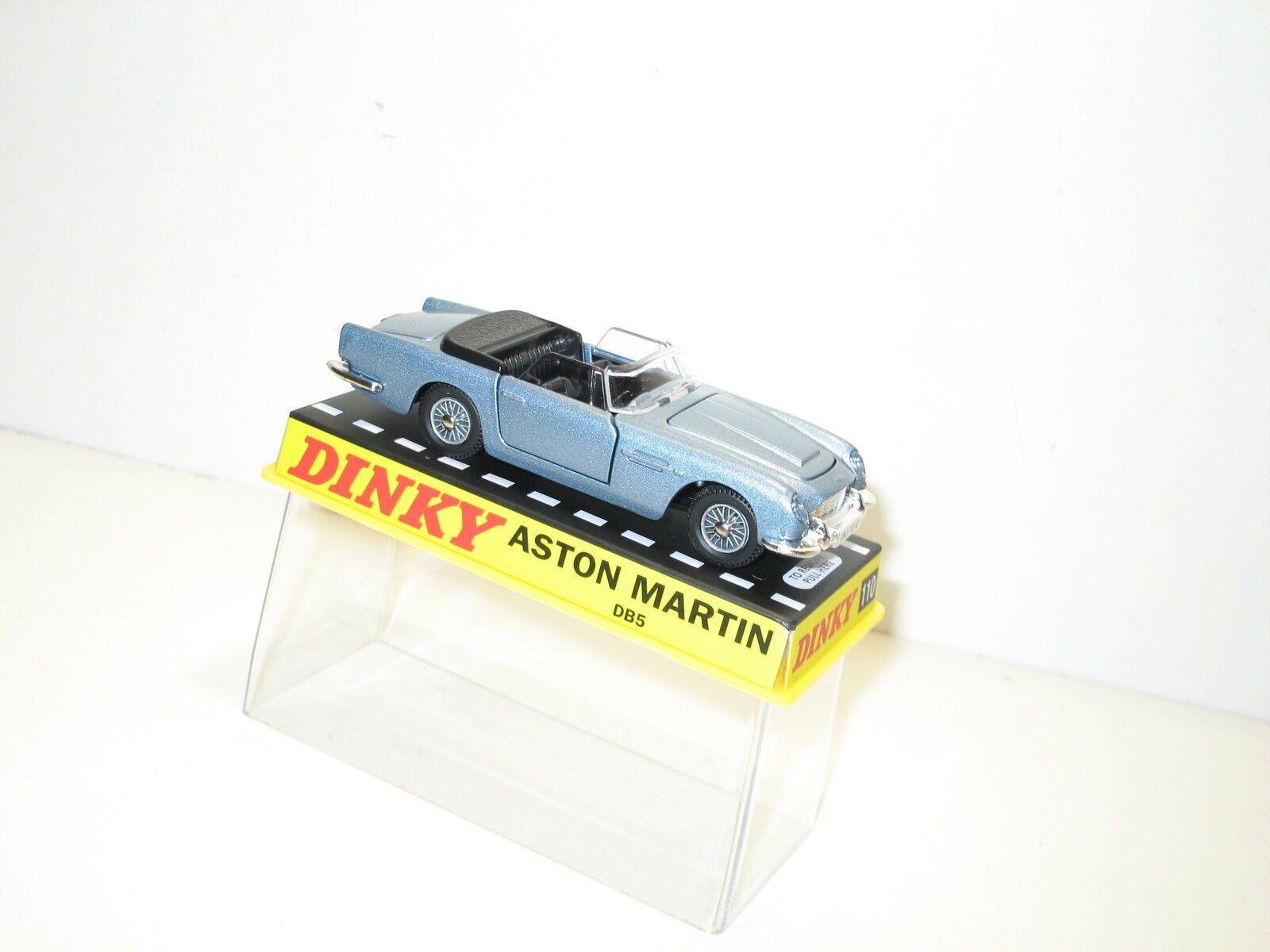 Dinky toys toys toys Aston Martin bleue métalisée, dinky atlas  ref 110  marca de lujo