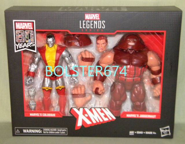 COLOSSUS VS. JUGGERNAUT 2-Pack Marvel Legends 80 Years Anniversary 2019 Figures