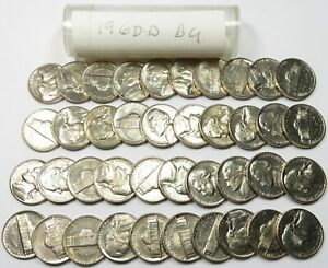 Roll Uncirculated Jefferson Nickels 1960 P
