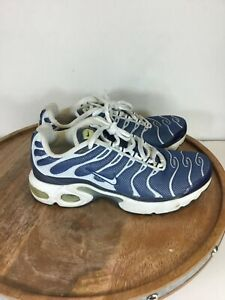 Rare-Nike-Air-Max-TN-French-Youth-Sneakers-Shoes-Blue-White-655020-413-Size-4-5