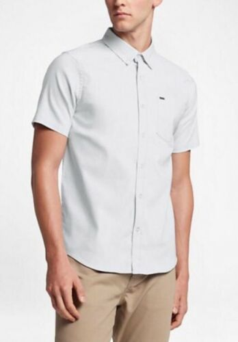 Hurley Men/'s Dri-Fit One And Only Short Sleeve Shirt White MVS0003630 SZ M  NEW