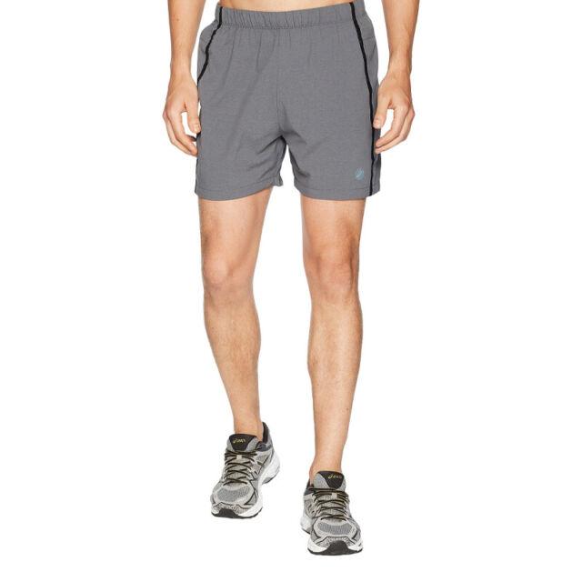 """NEW Men's Asics Legends Running Shorts Size 2XL 5"""" Inseam Dark Grey Heather"""