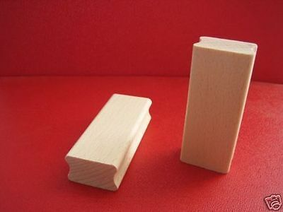 Rubber stamp long rectangular wooden block to mount your image