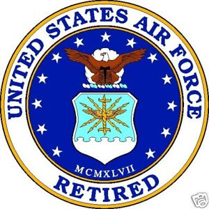 United-States-Air-Force-Retired-4-034-Round-Window-or-Bumper-Decal-Sticker-USAF