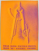 Omar Rayo Tactile Prints Poster Serigraph Galeria Colibri Puerto Rico 1968