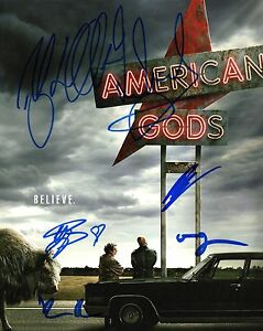 GFA-Ricky-Whittle-Cast-x6-AMERICAN-GODS-Signed-8x10-Photo-A2-COA