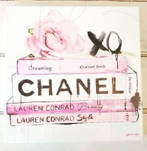 OLIVER-GAL-12-039-039-X-12-039-039-CANVAS-CHANEL-Lauren-Conrad-Pop-Art-WOOD-FRAMED
