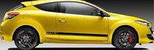 Megane RS Sport Car Body Stickers Custom Side Stripe Vinyl Graphic Decals