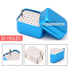 1*30Holes Dental Burs Holder Stand Autoclave Disinfection Bur Box for Endo Files