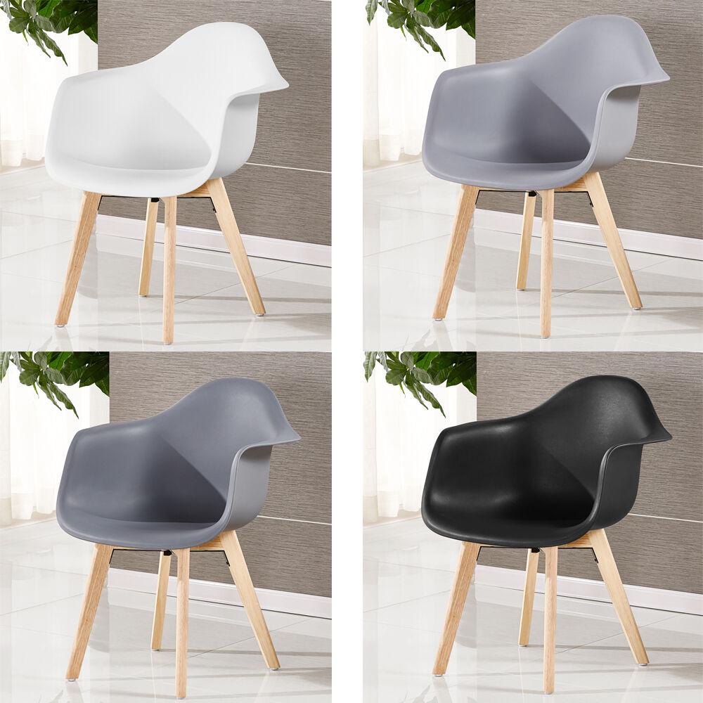 Rita skandinavisch wanne esszimmerstuhl plastik wei schwarz grau retro modern ebay - Esszimmerstuhl skandinavisch ...