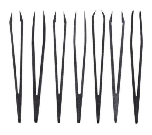 NUEVO !! Set de 7 pinzas Anti-Estáticas distintas en material sintético