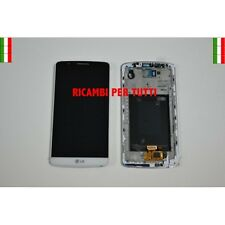 Touch Screen Display Lcd Bianco Per Lg Optimus G3 D855 Frame Ditigizer White