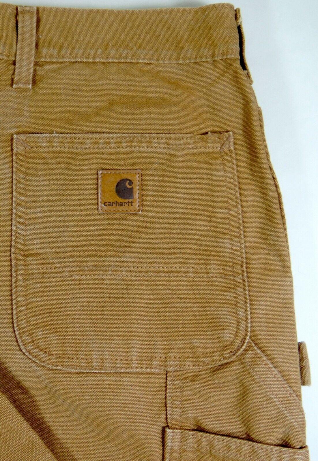Carhartt Work Pants Brown Carpenter Painter Jeans 46 Waist 29 Inseam 46x29