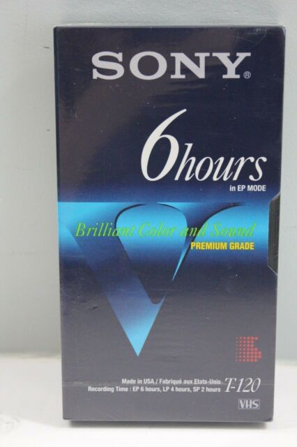 Sony 6 Hour Premium Grade T-120 VHS