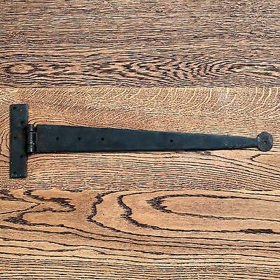 18 Inch Pair Black Vintage Antique Penny Tee Hinge Wrought Iron